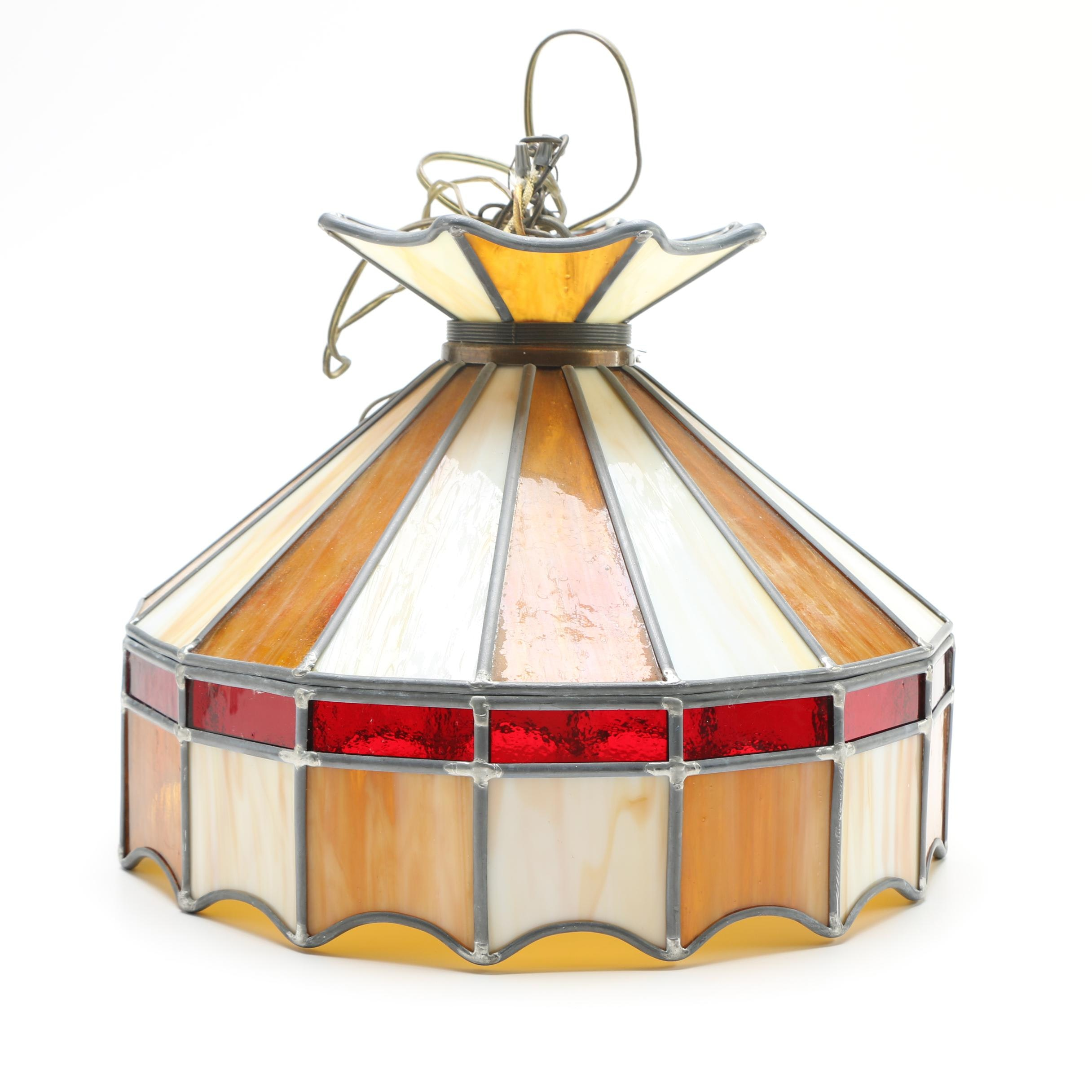 Stained Glass Tent Lamp