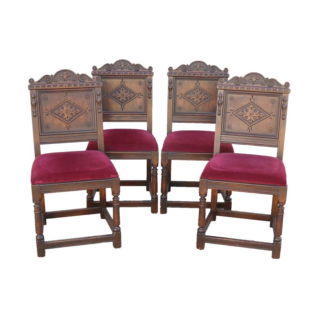 Vintage Renaissance Revival Style Dining Chairs