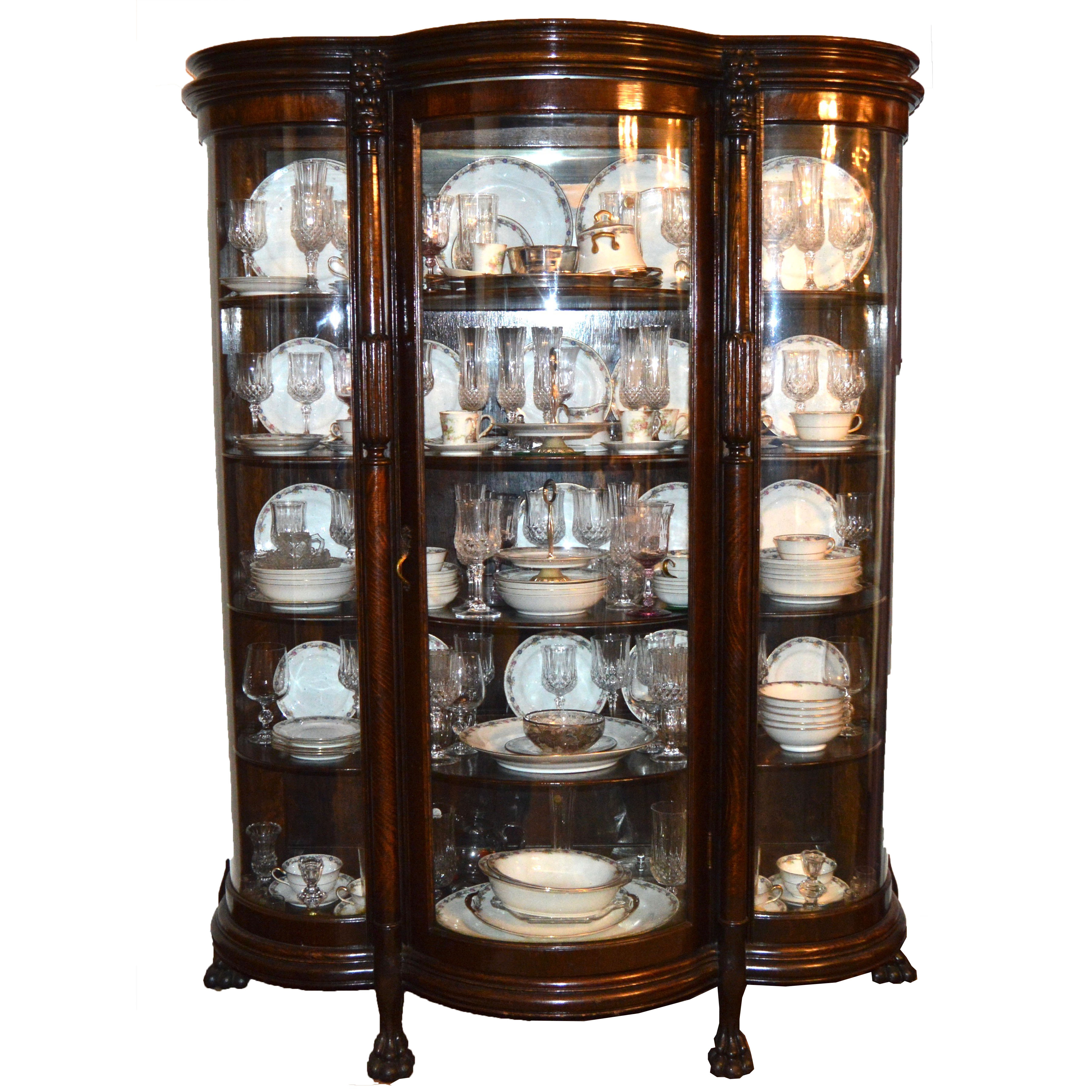 Antique Bow Front China Cabinet : EBTH
