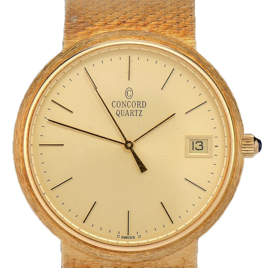 14K Yellow Gold Concord Quartz Swiss Made Watch