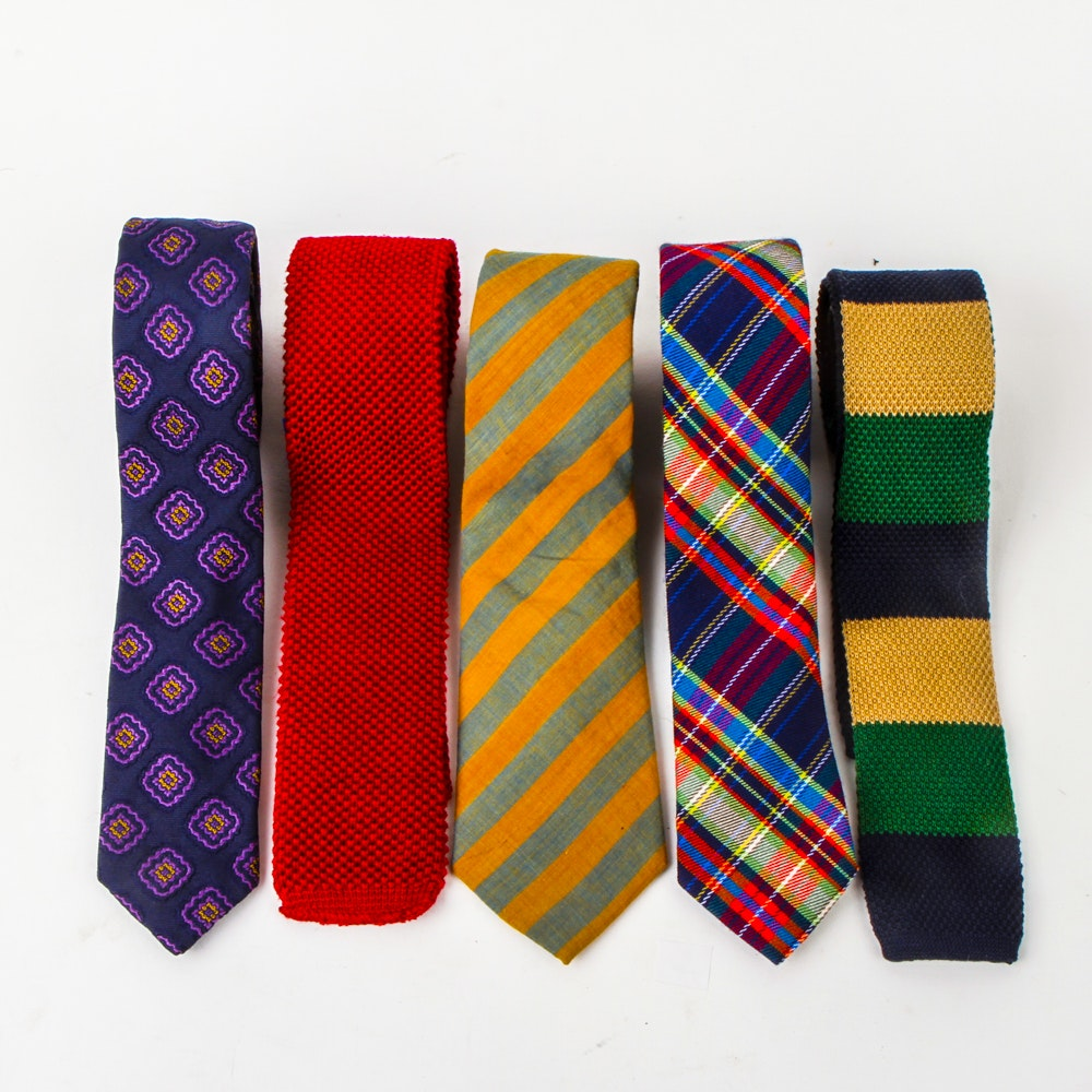 Collection of Men's Skinny Ties