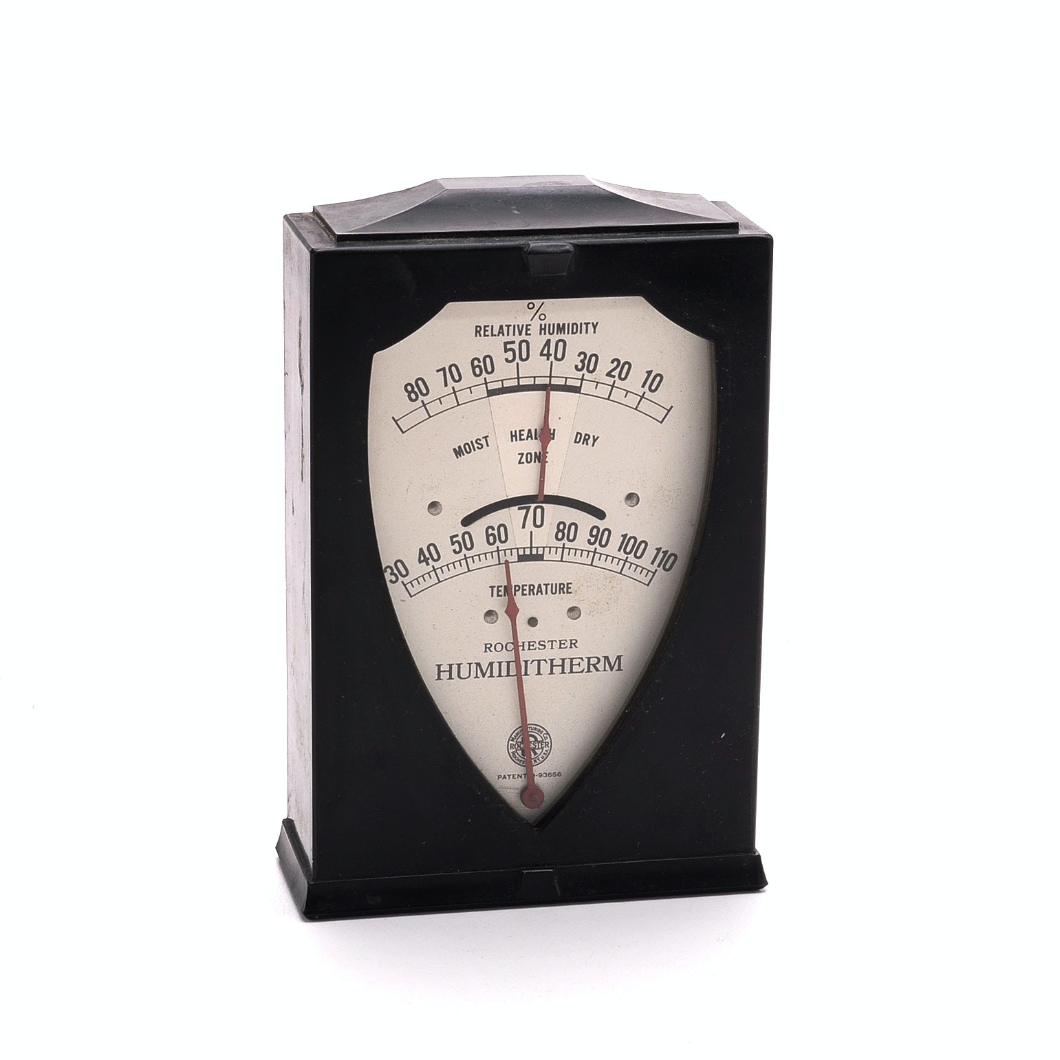 Vintage Rochester Hygrometer and Thermometer