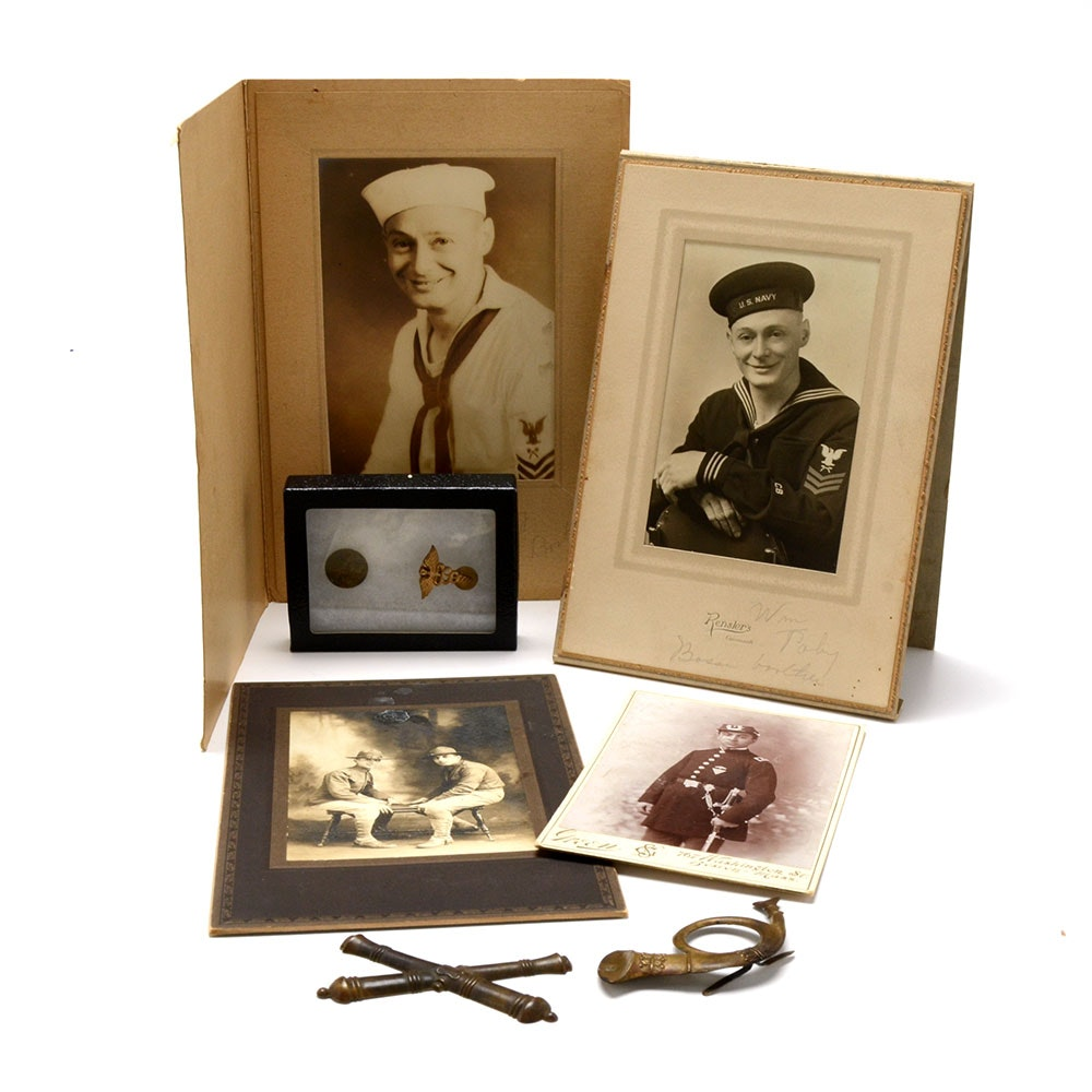 Cival War Uniform Button and other Military Collectables
