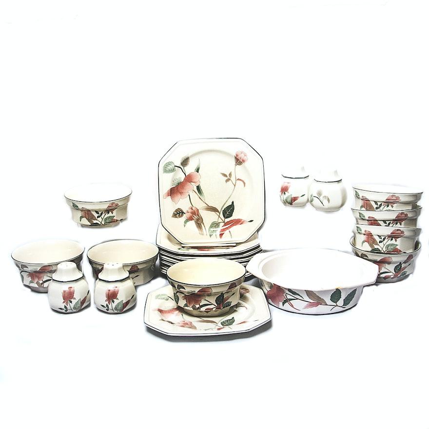 Set of vintage 1980s mikasa silk flower china dishes ebth set of vintage 1980s mikasa silk flower china mightylinksfo