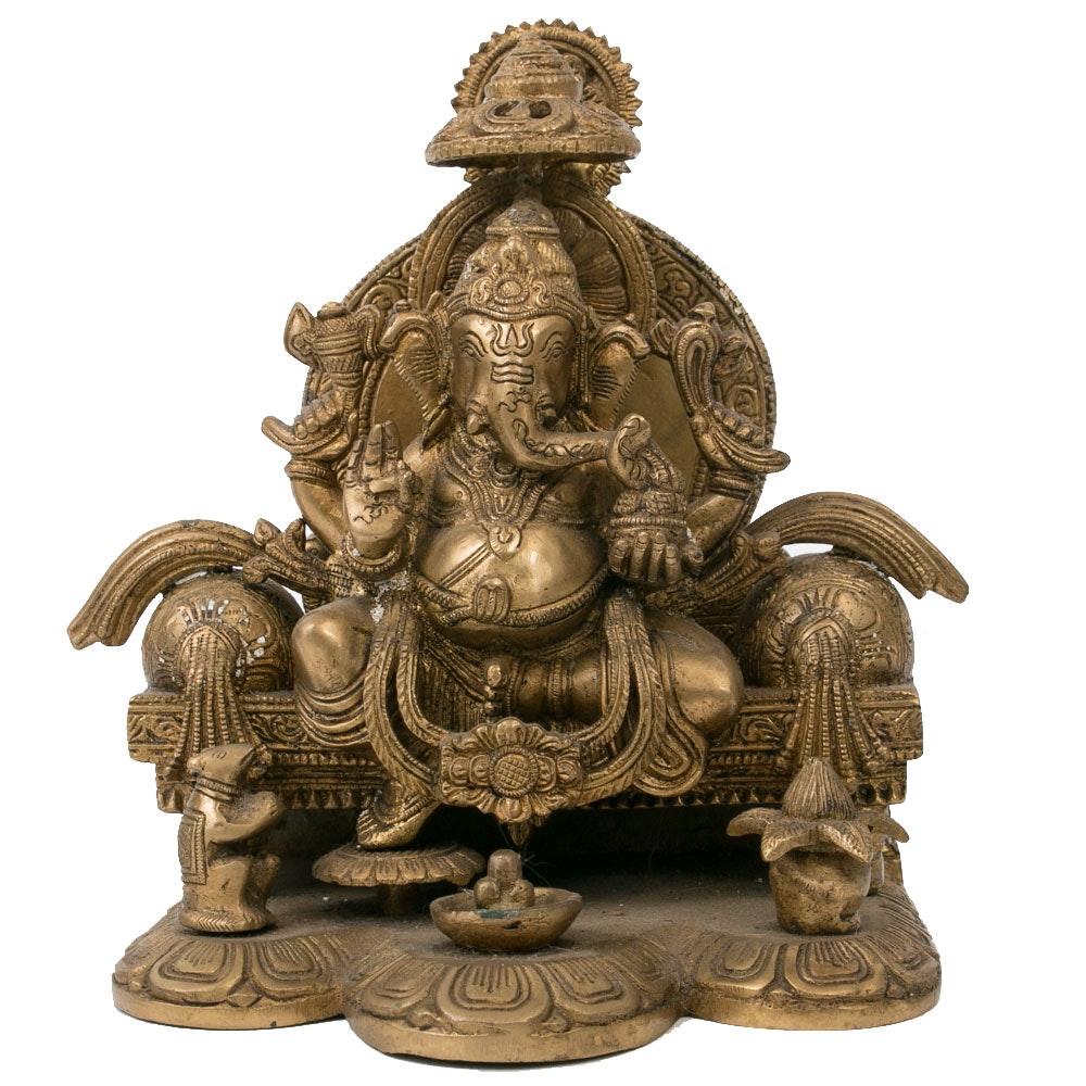 Cast Bronze Ganesha Sculpture