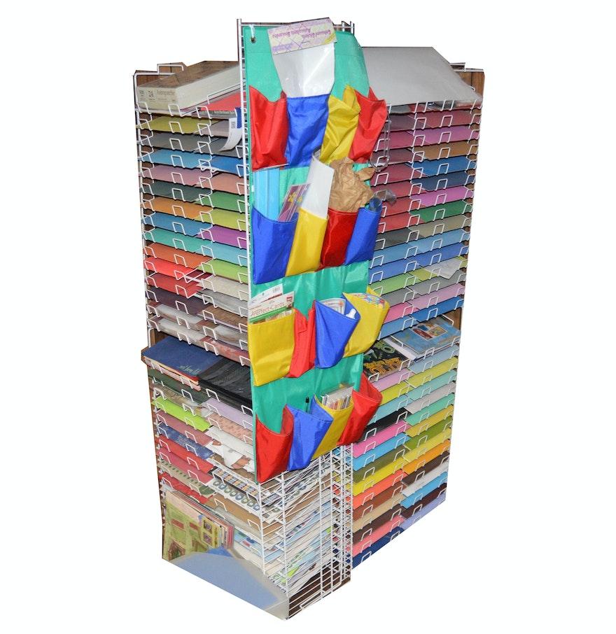 Scrapbook paper rack - Scrapbook Paper Shelving And Supplies