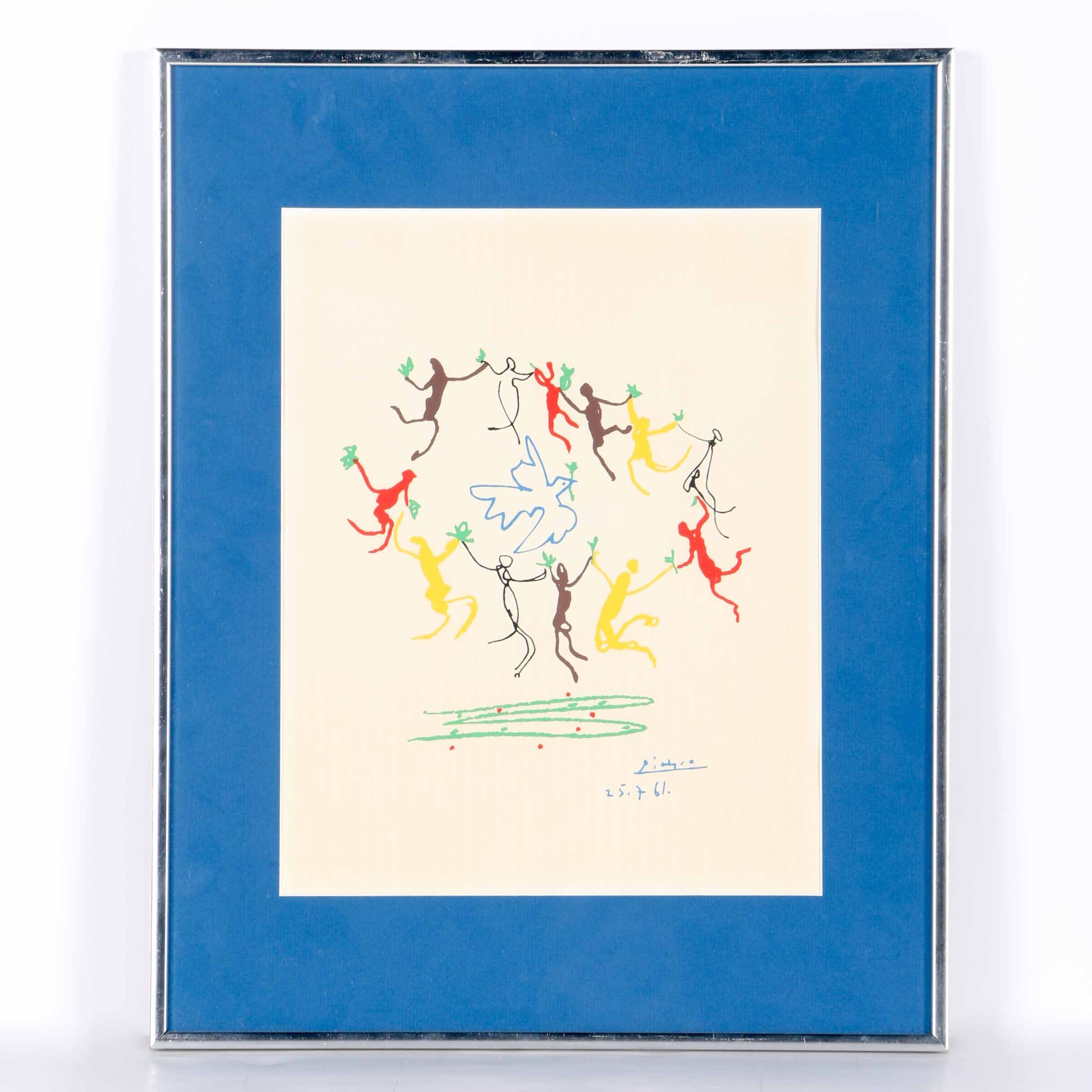 "Serigraph After Pablo Picasso ""Dance of the Youth"""