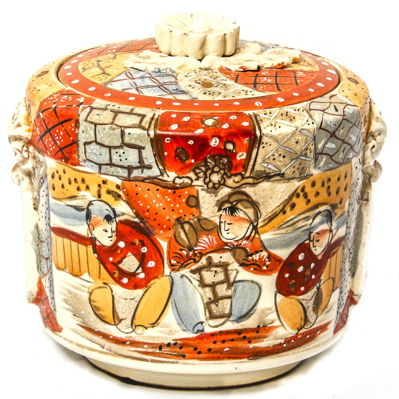 Vintage Hand Painted Jar