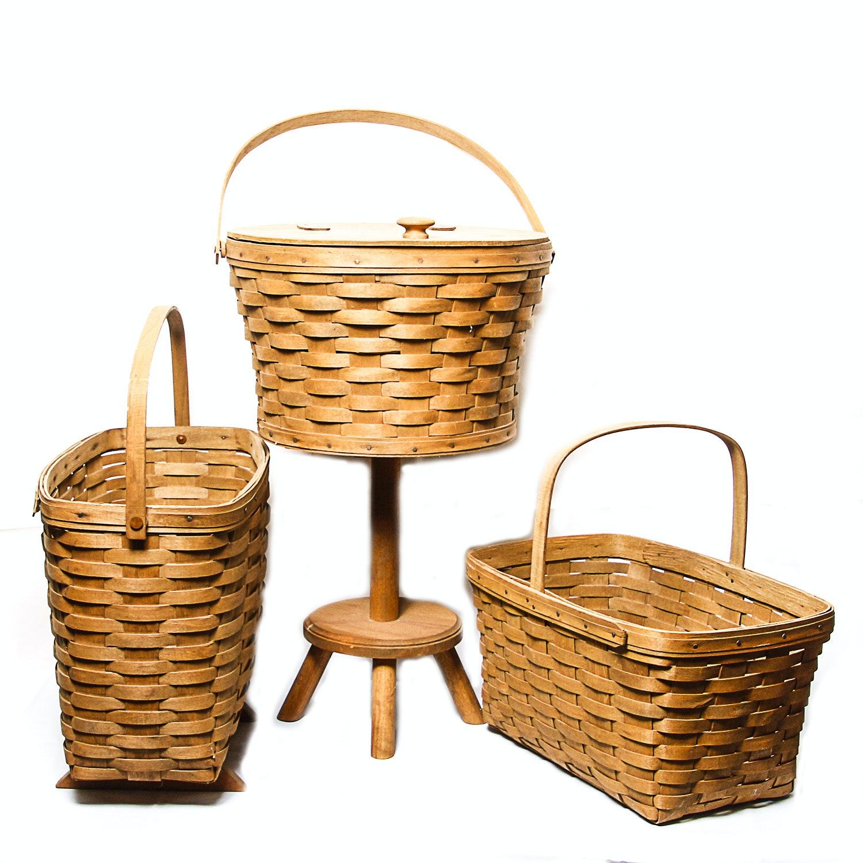 Collection of Vintage Longaberger Baskets