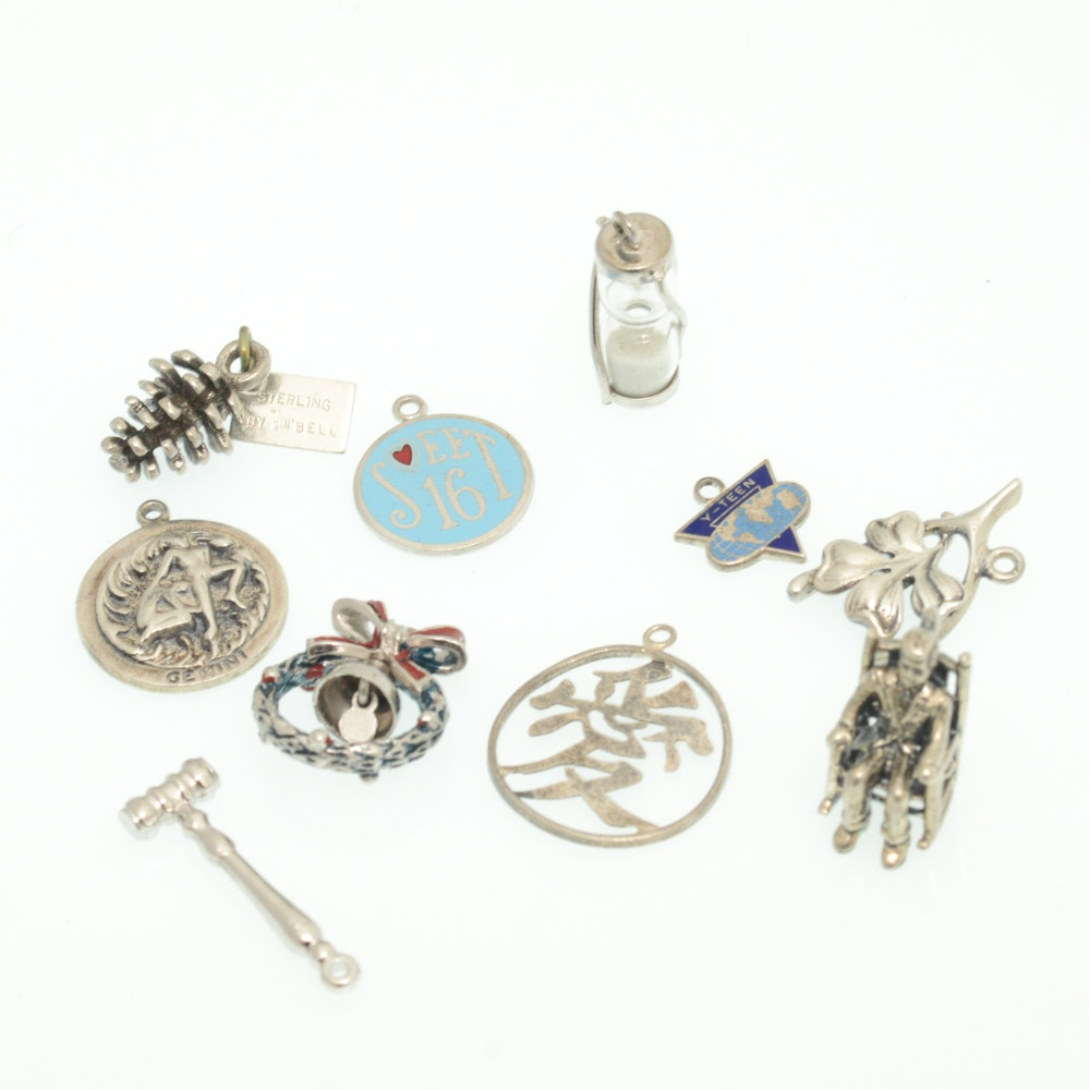 Sterling Silver Charms Featuring Danecraft