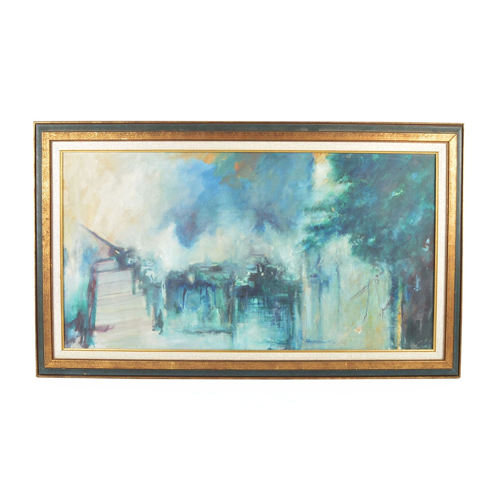 Abstract Oil Painting by Leist