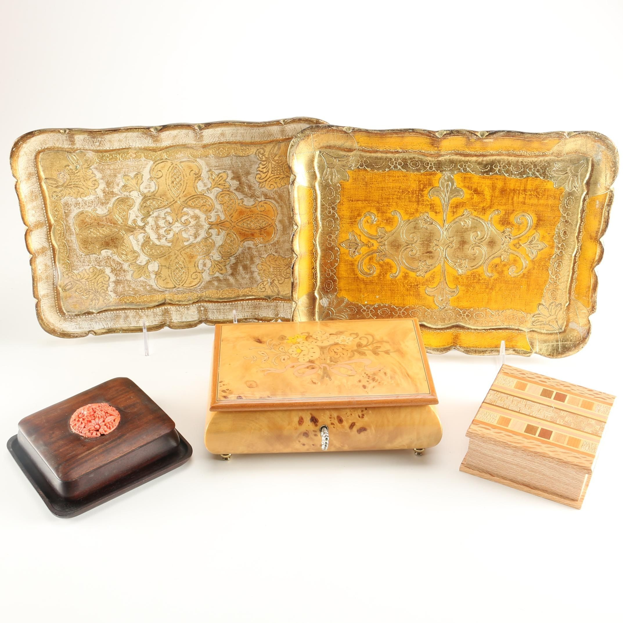 Italian Music Box, Florentine Style Trays and More
