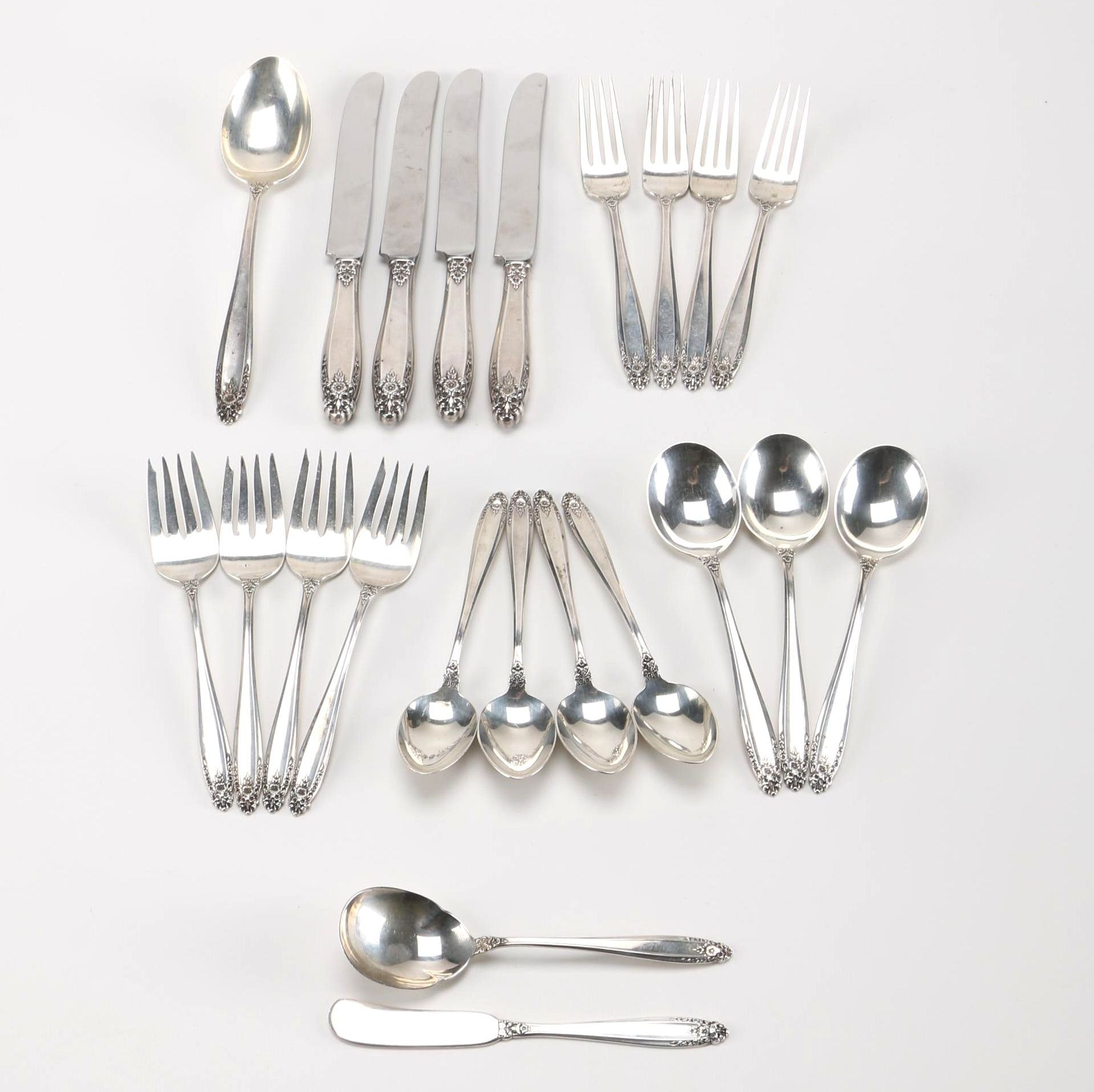 """Collection of International """"Prelude"""" Sterling Flatware"""