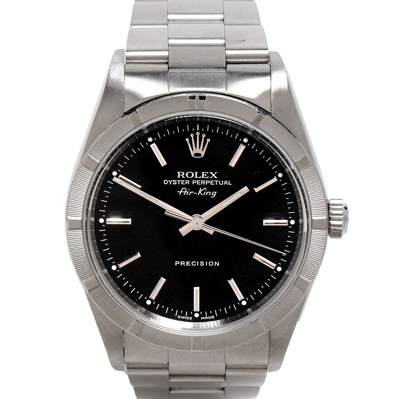 Rolex Perpetual Air-King Black Steel Dial Automatic Wristwatch