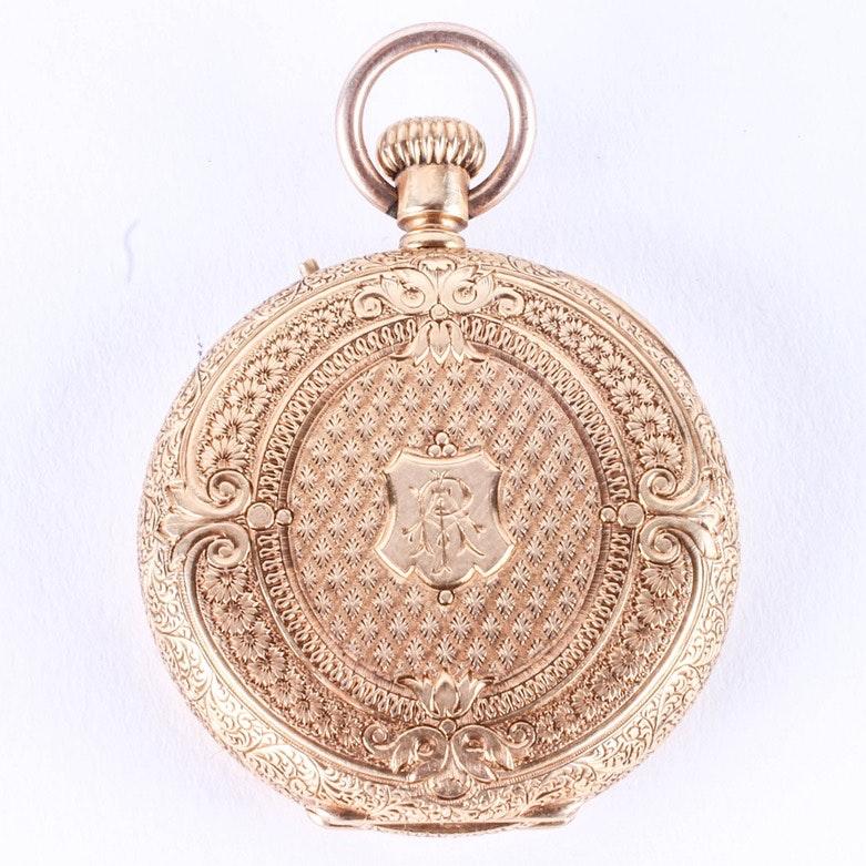 Ornate, Antique 18K Gold Pocket Watch