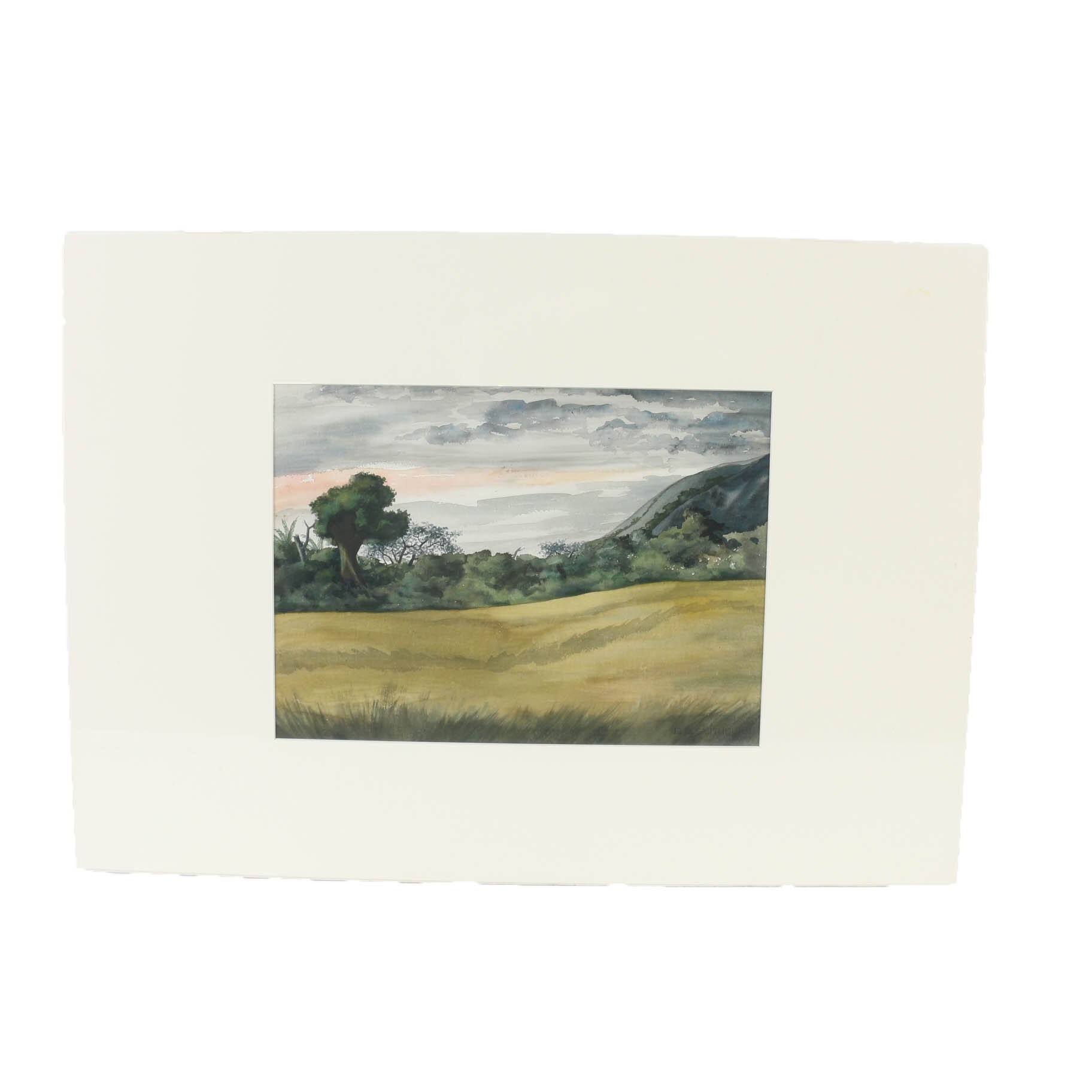 Florence Bartley Smithburn Watercolor Painting on Paper Landscape