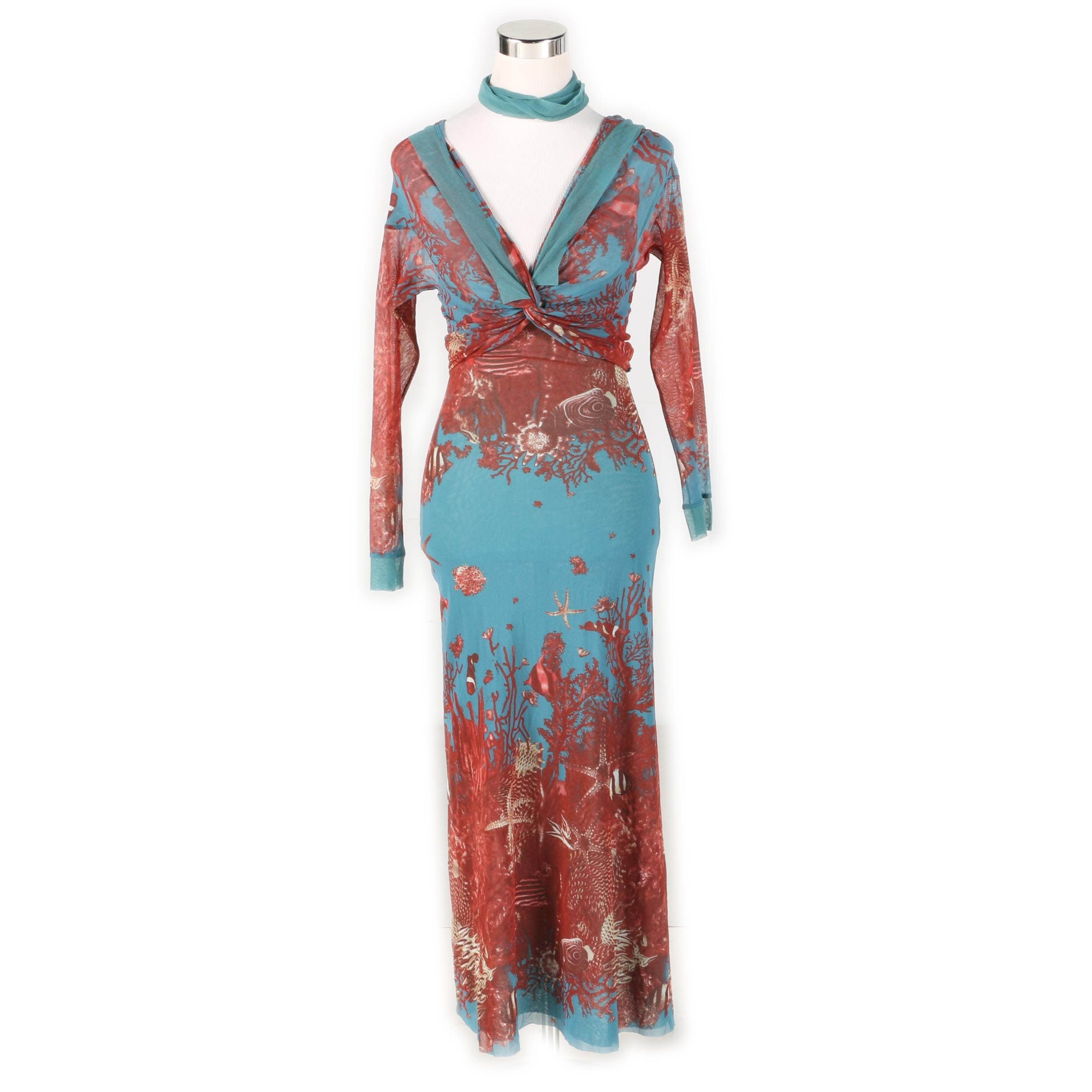 Jean Paul Gaultier Soleil Sleeveless Maxi Dress