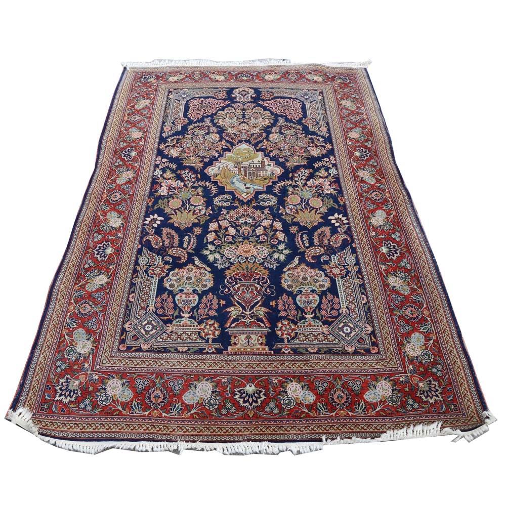 Hand Knotted Kashmar-Style Vase Carpet