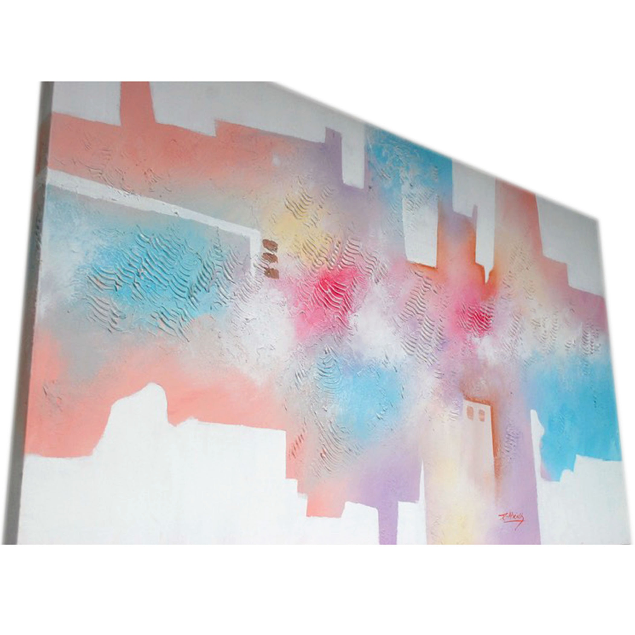 R. Atkins Acrylic Paintings on Canvas Abstract Composition