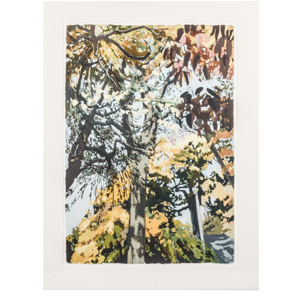 Robert Dash Original Acrylic Painting on Paper