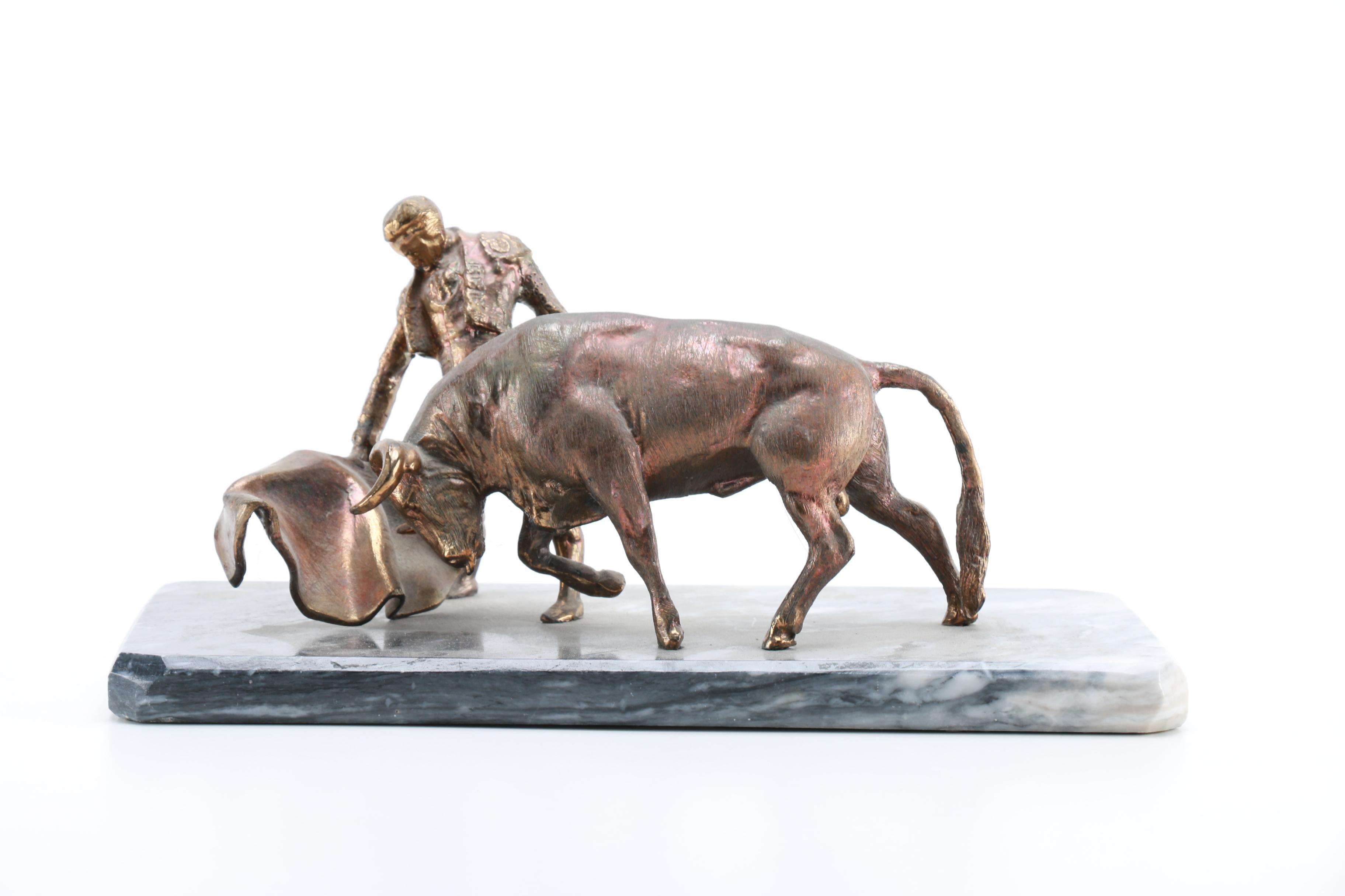 Artemetalica Spelter Statue of a Bullfighter