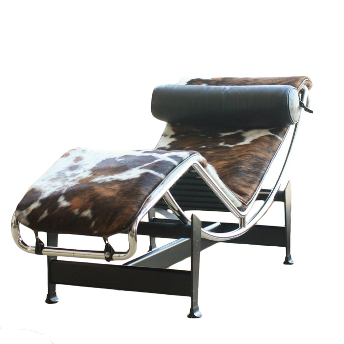Le Corbusier LC4 Pony Hair Chaise Lounger