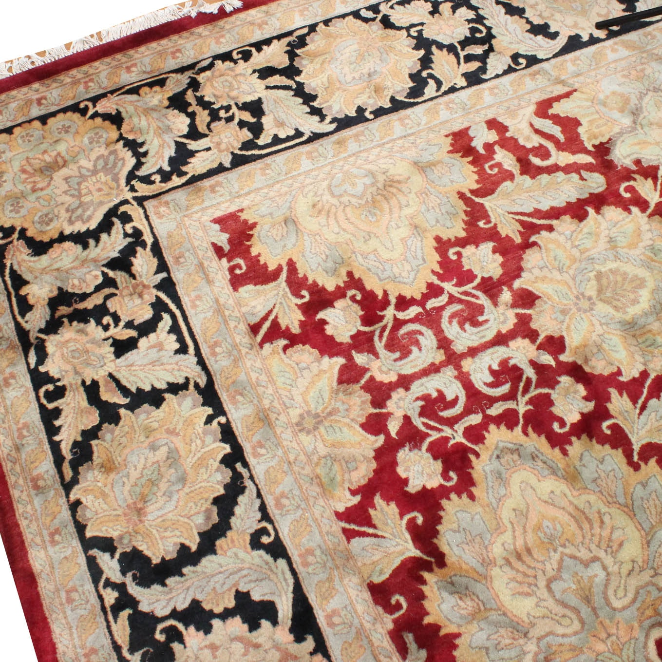 Large Hand Knotted Persian Inspired Area Rug