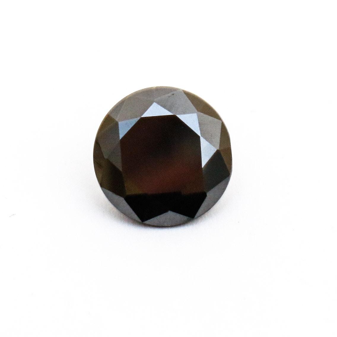 Natural Round Brilliant Cut Black Diamond