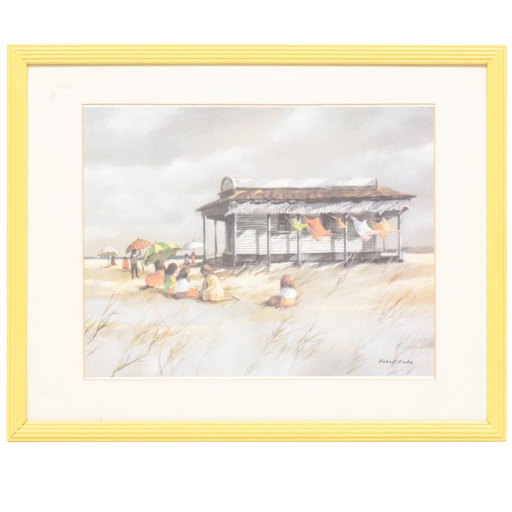 "Robert Fabe Print ""Beach House"""