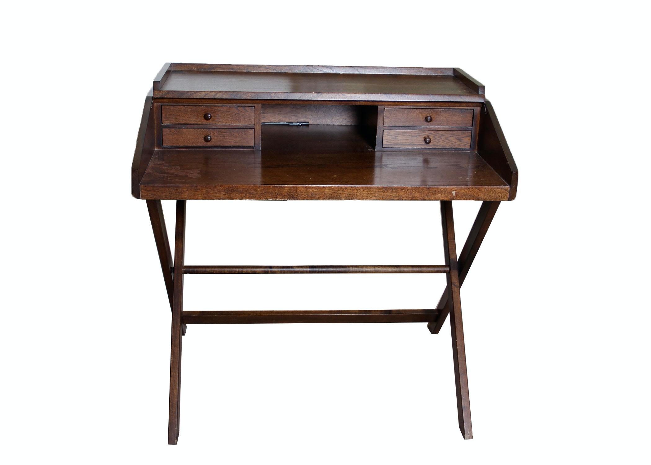 Vintage Wooden Secretary Desk