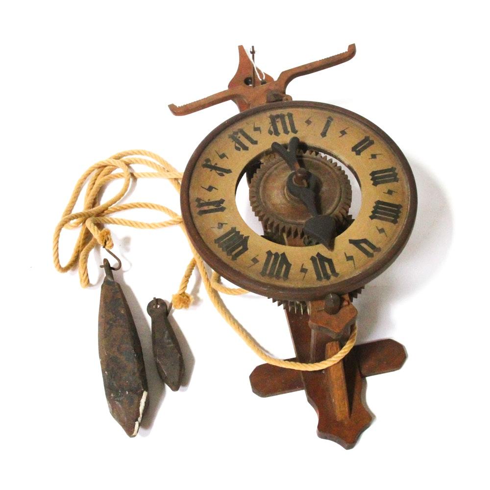 Bott Swiss Wood Weight Driven Wall Clock Ebth