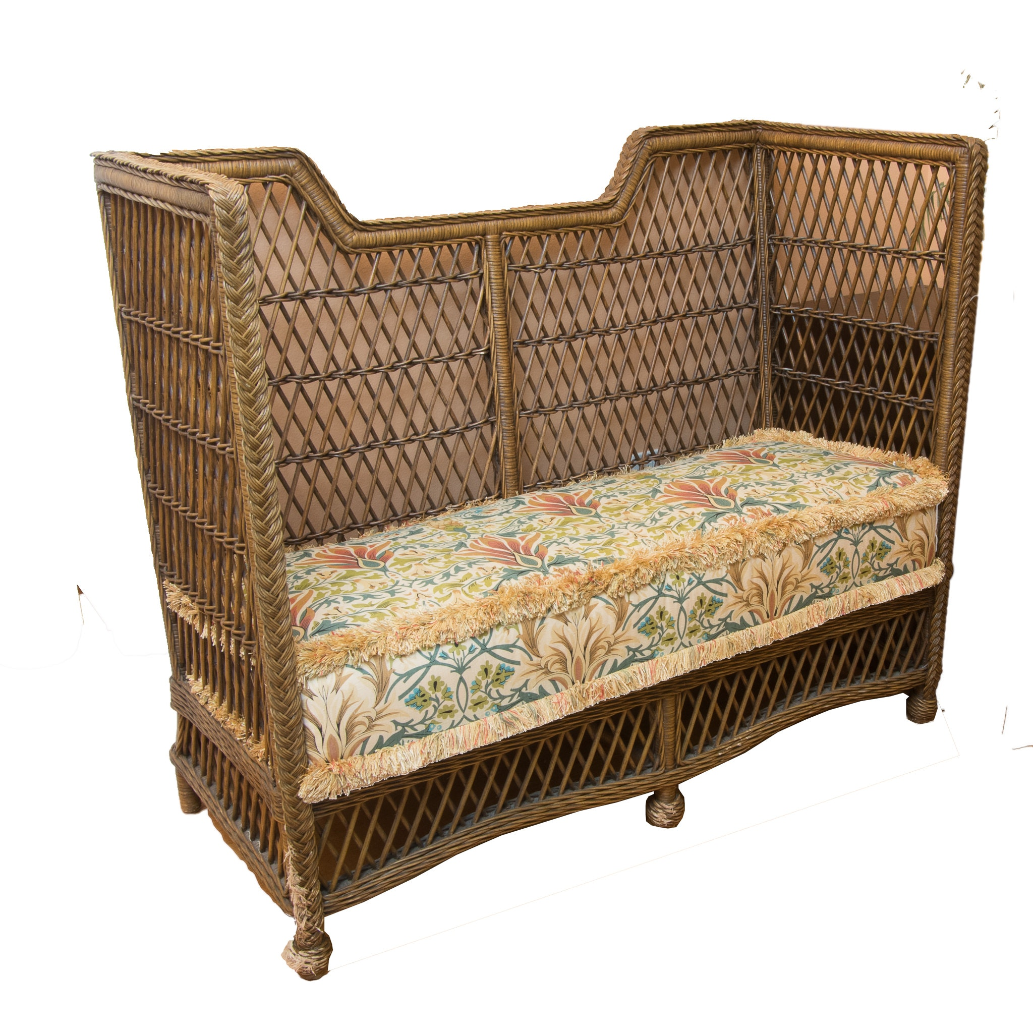 Contemporary Wicker Settee by Lane Furniture