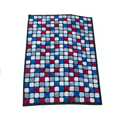Blue and white checkerboard plaid area rug ebth - Checkerboard area rug ...