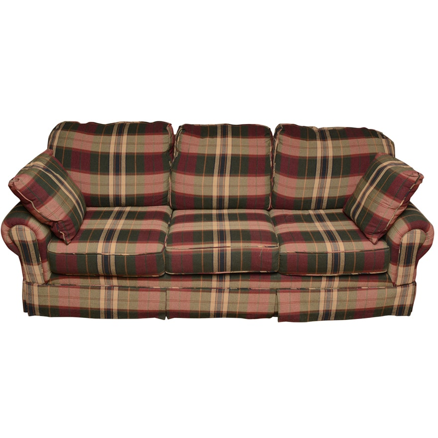 Plaid Sleeper Sofa By Sofa Express