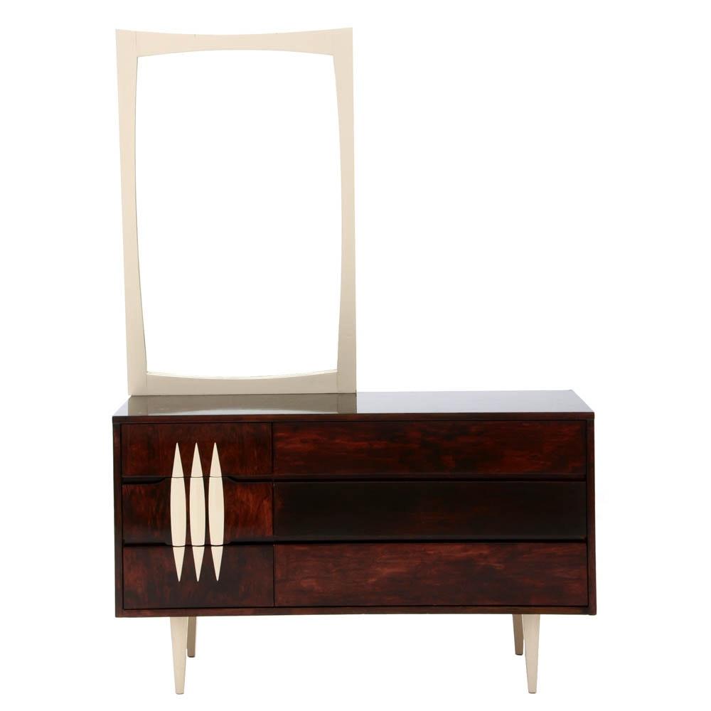Mid Century Modern Dresser with Mirror by Kroehler