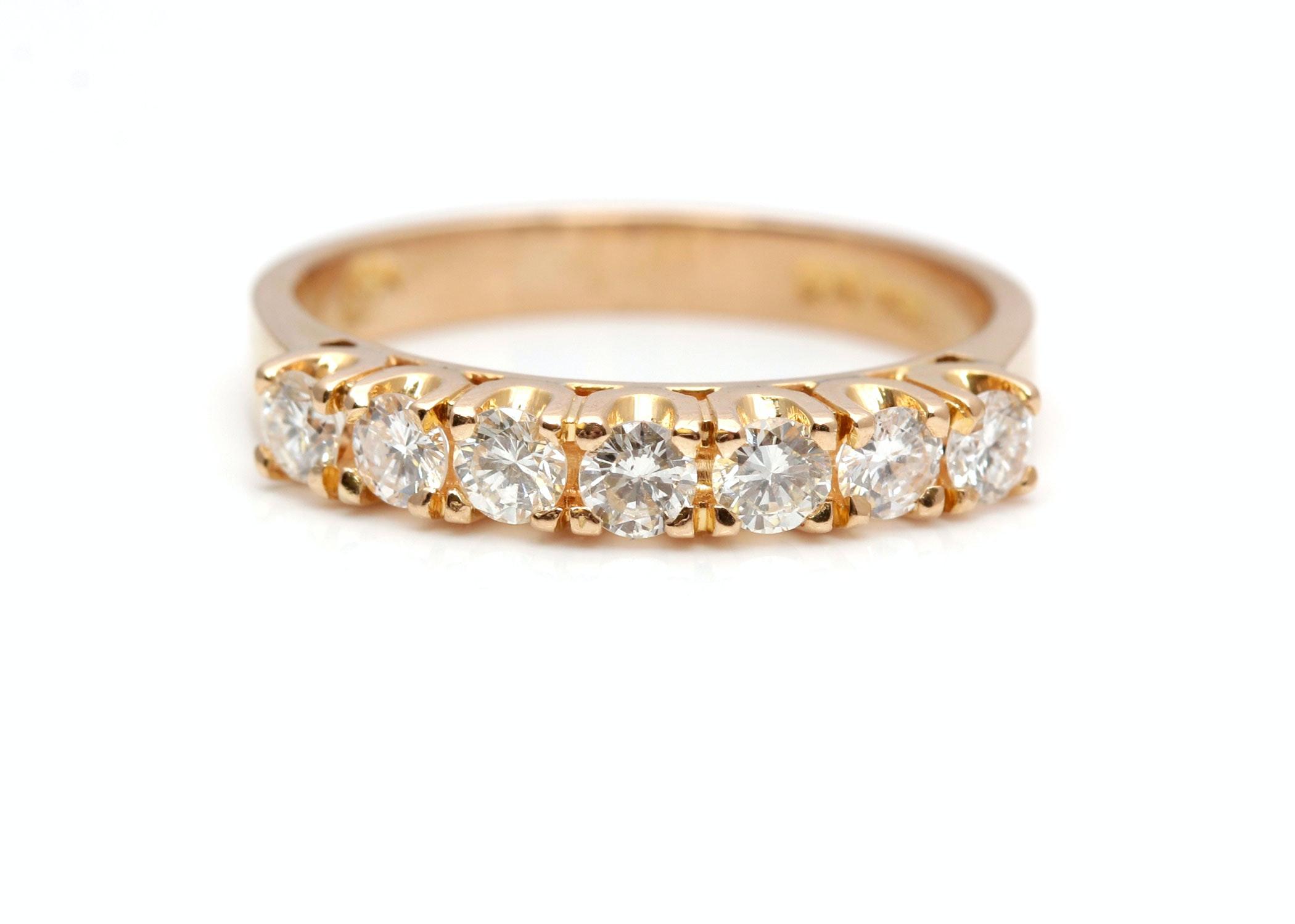 18K Yellow Gold 0.66 CTW Diamond Band