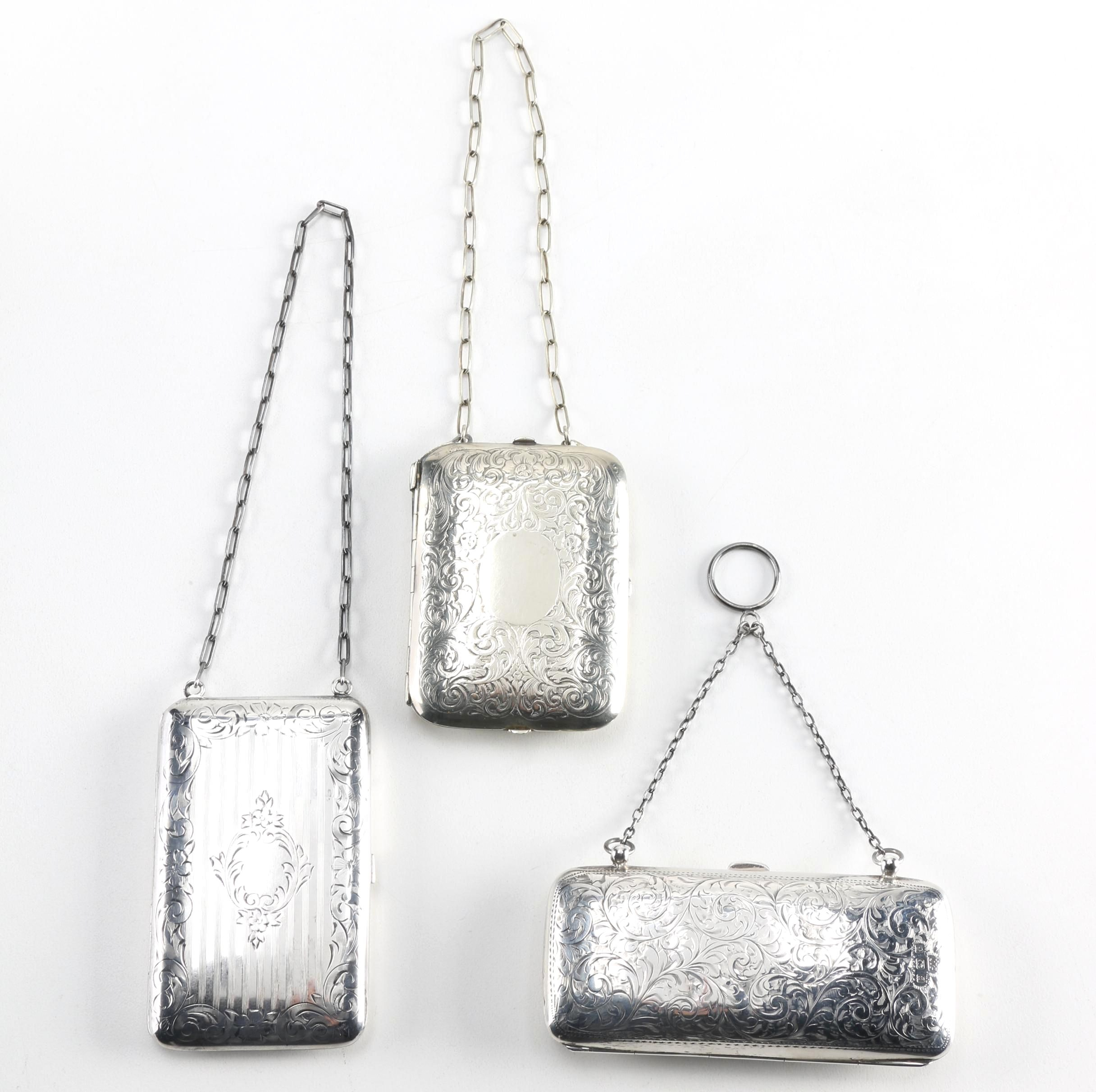 Early 20th-Century Sterling and German Silver Coin Purses