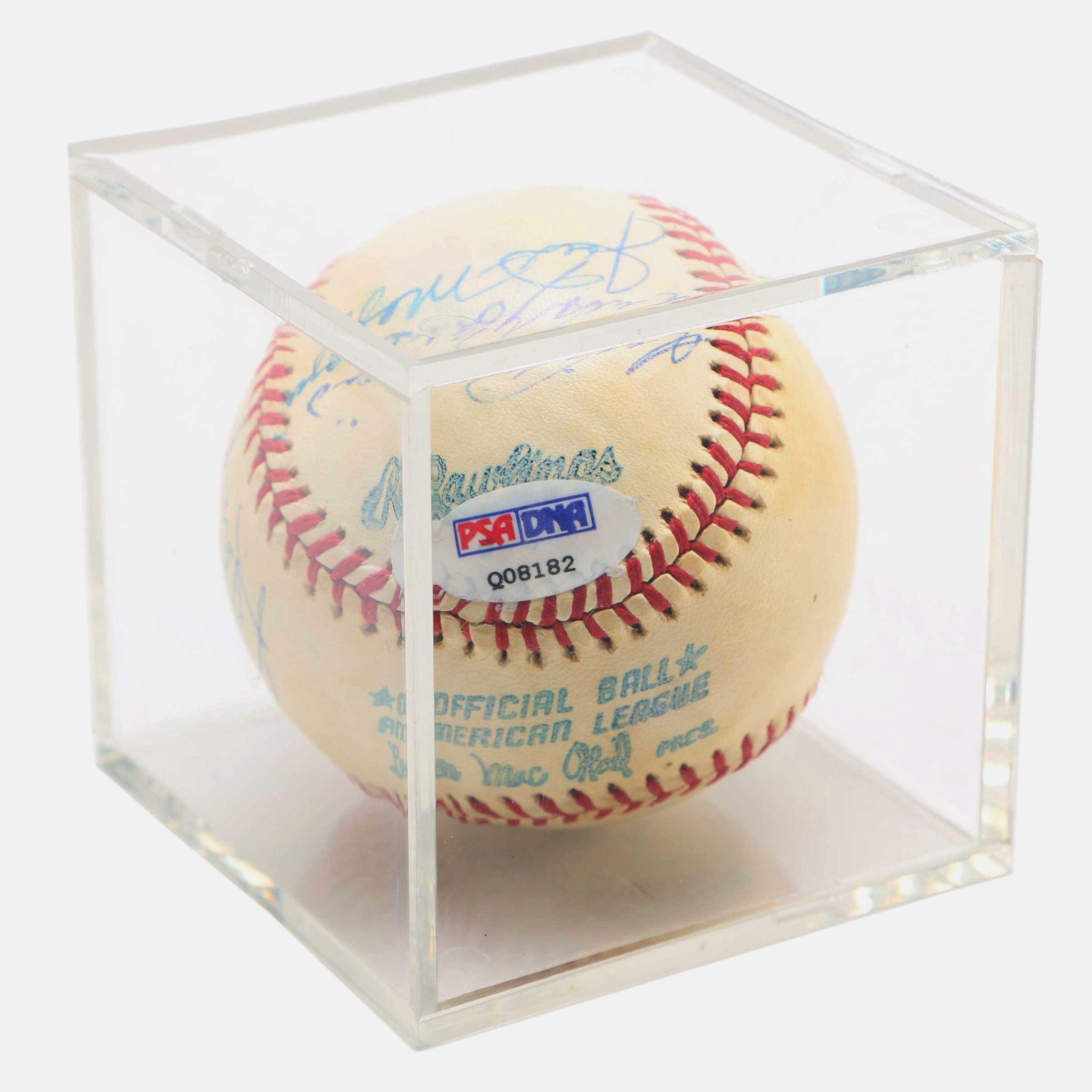 Circa 1970s Signed Baseball with Joe DiMaggio and Yogi Berra