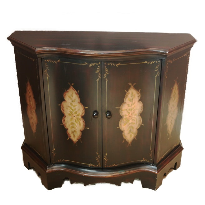 Demilune Painted Side Cabinet