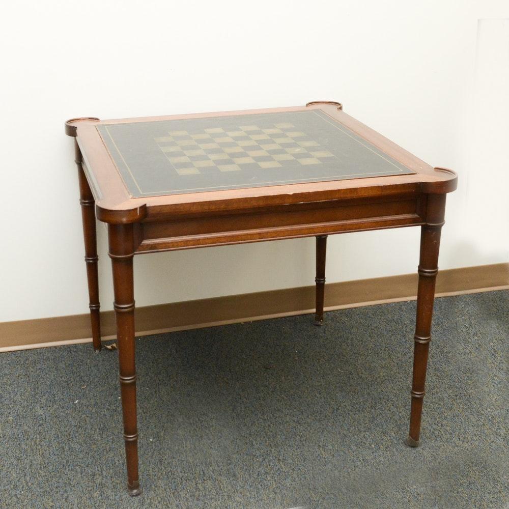 Mahogany Chess Game Table