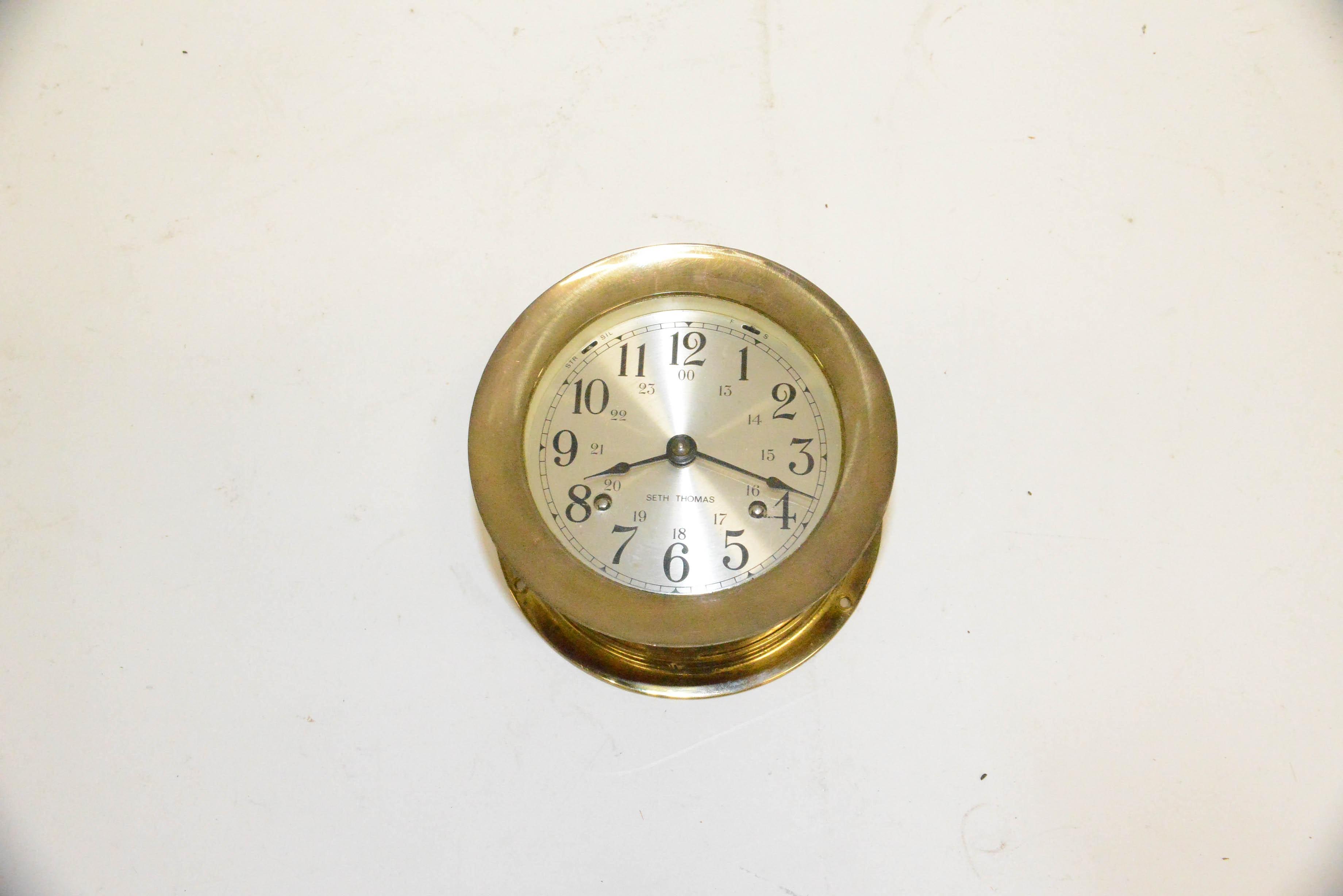 """Corsair"" Seth Thomas Brass Ship Clock"