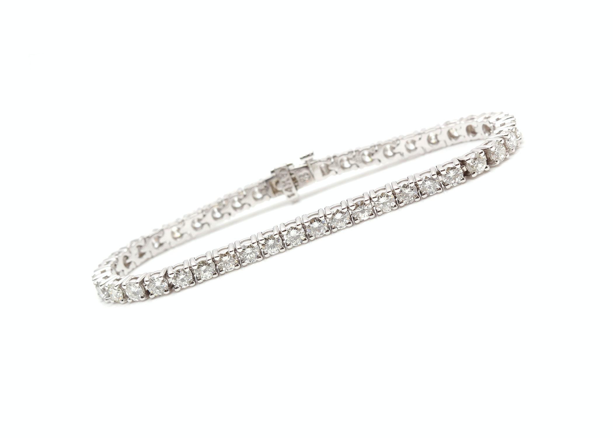 14K White Gold 8.15 CTW Diamond Bracelet