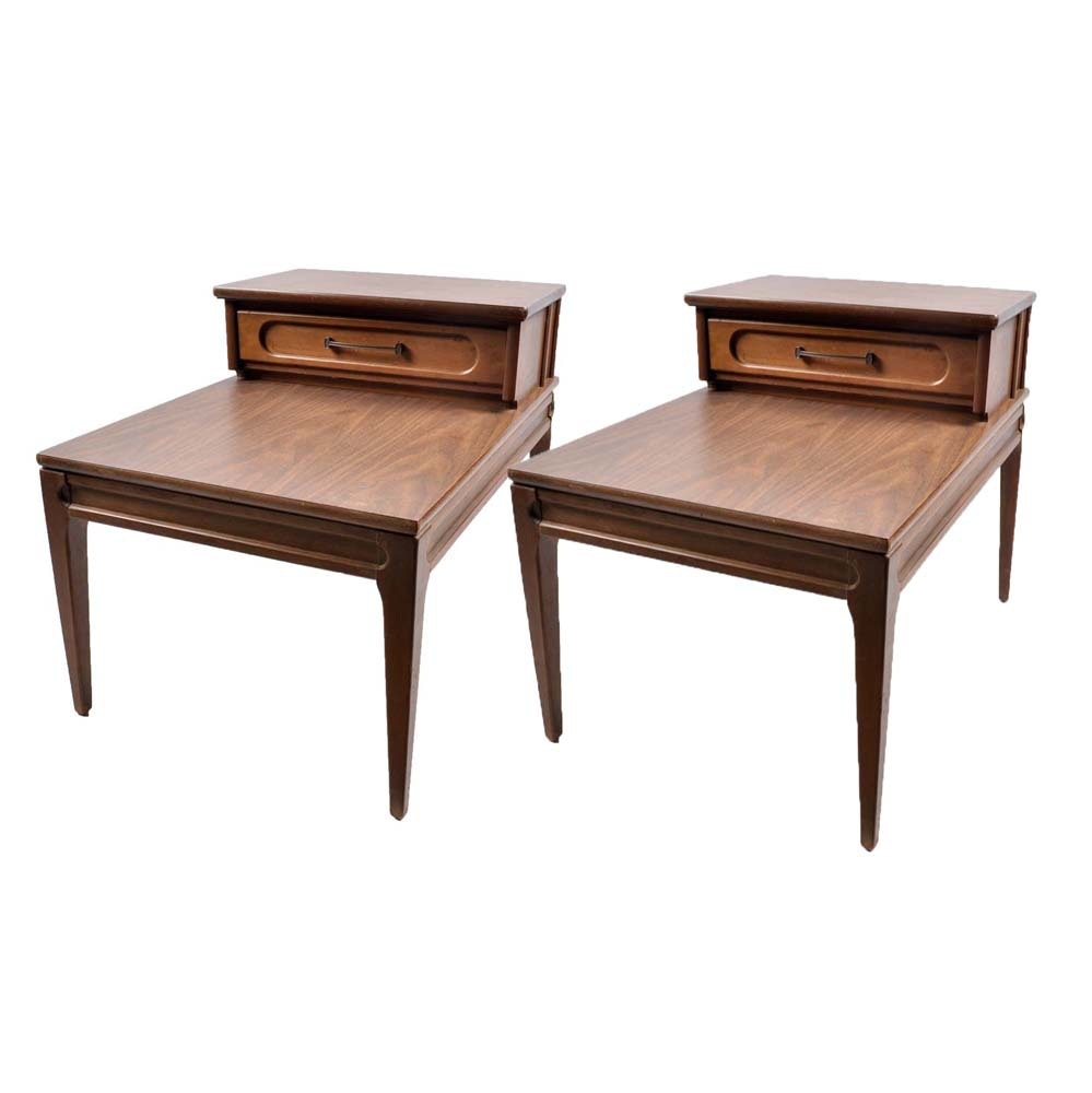 pair of mersman mid century modern end tables