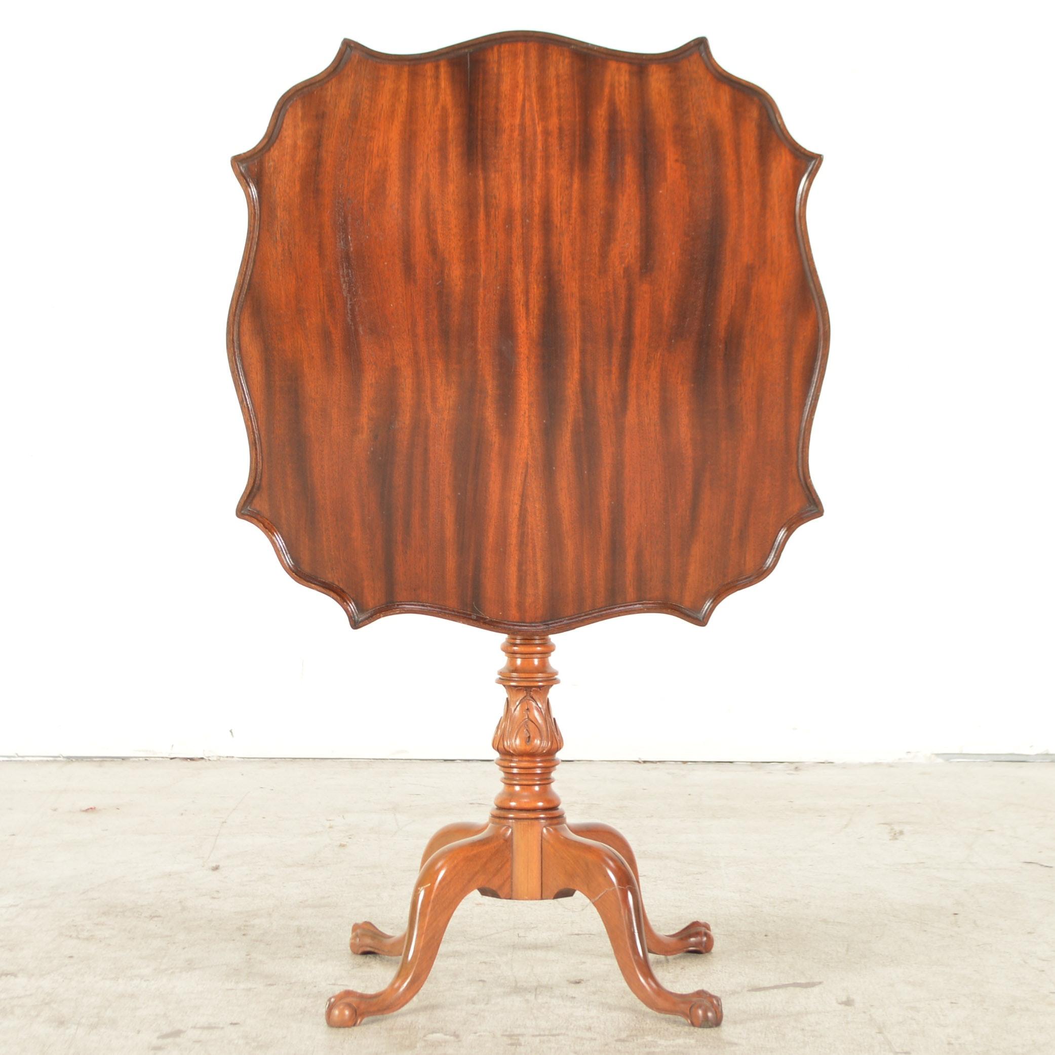 Mixed Wood Tilt Top Table