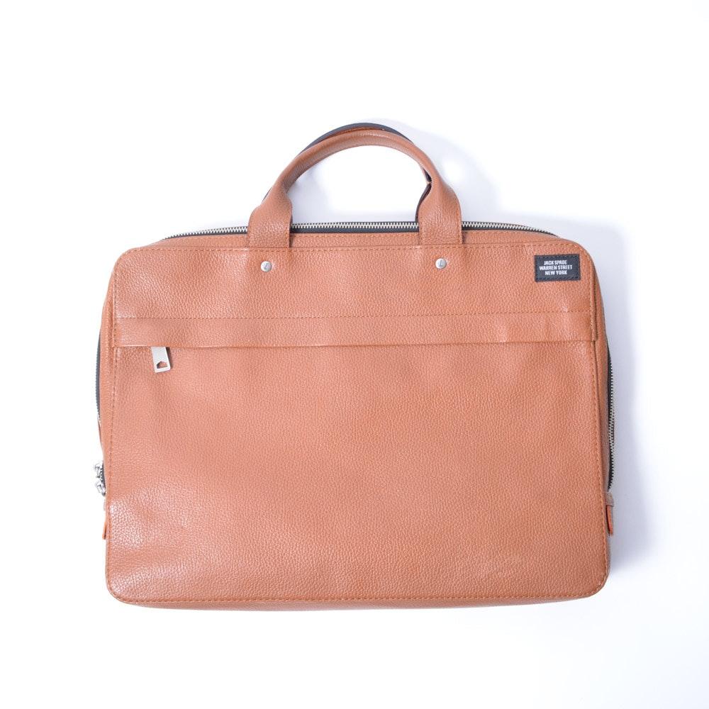Jack Spade Leather Briefcase