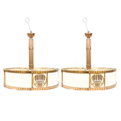 Pair of Drum Chandeliers