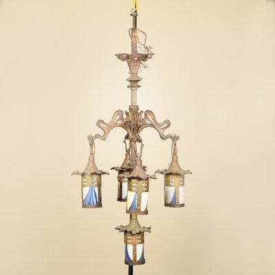 Art Nouveau Lantern Chandelier