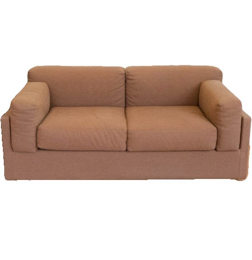 Square Back Contemporary Loveseat