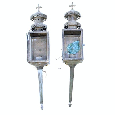 Pair Of Vintage French Style Exterior Sconces