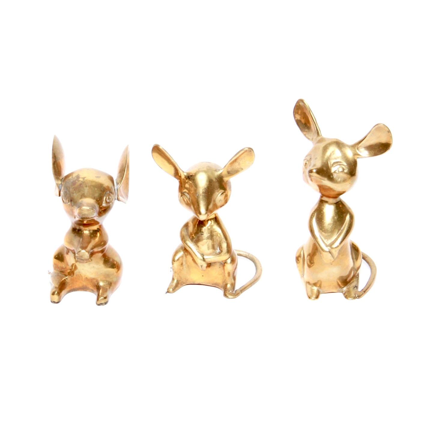Brass Mice Figurines